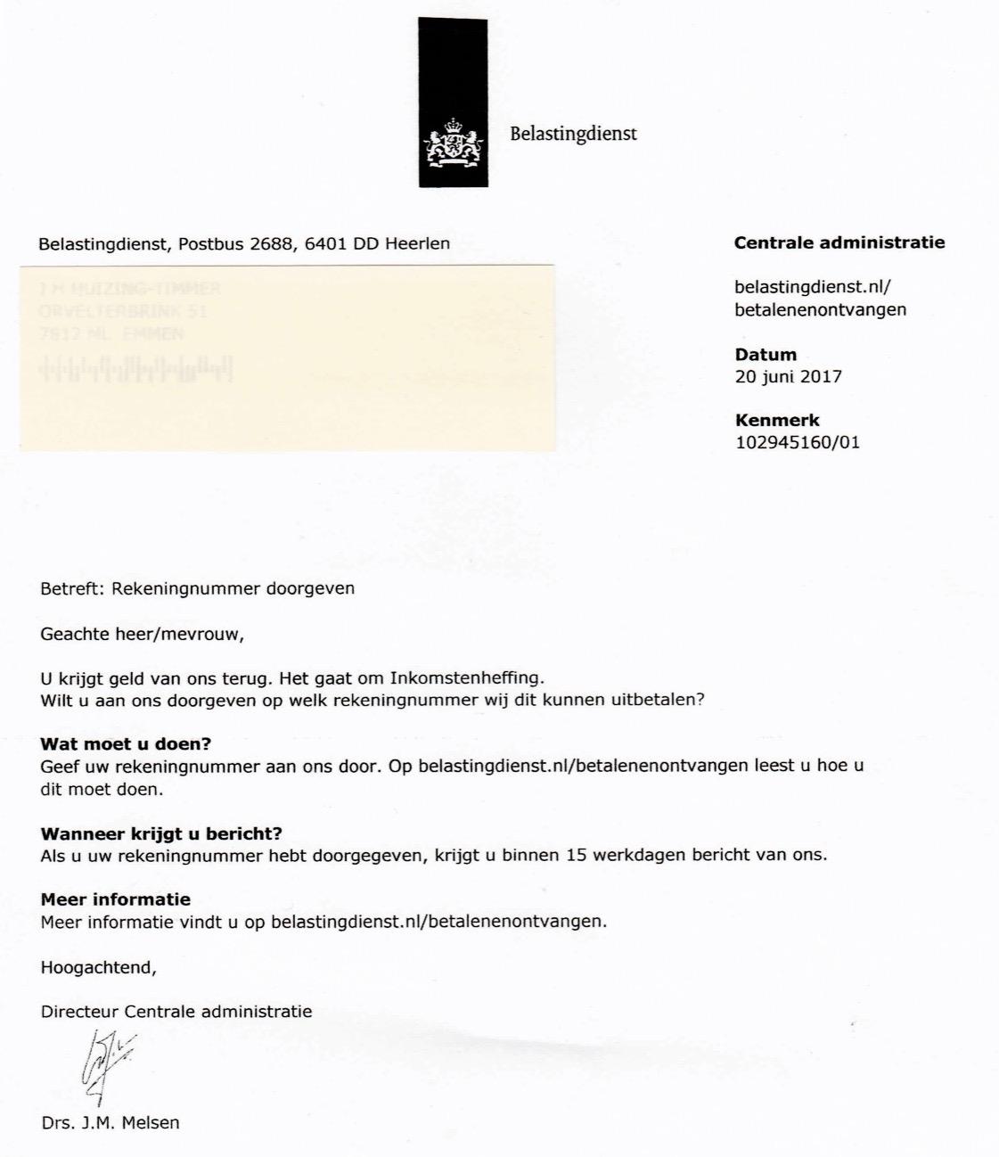 brief aan belastingdienst voorbeeld Brief Aan Belastingdienst Voorbeeld | gantinova